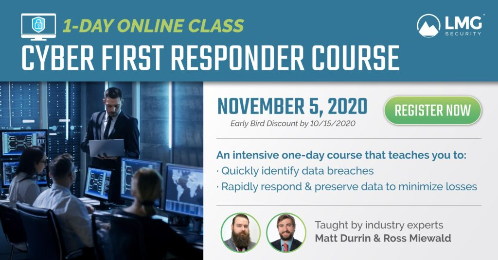 Cyber First Responder Course Image Link